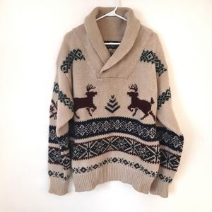 100% Wool Reindeer Sweater